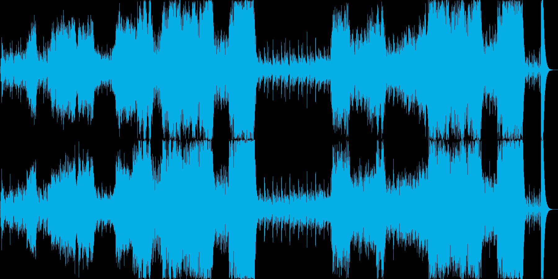 【オケ】噴水のある町の再生済みの波形