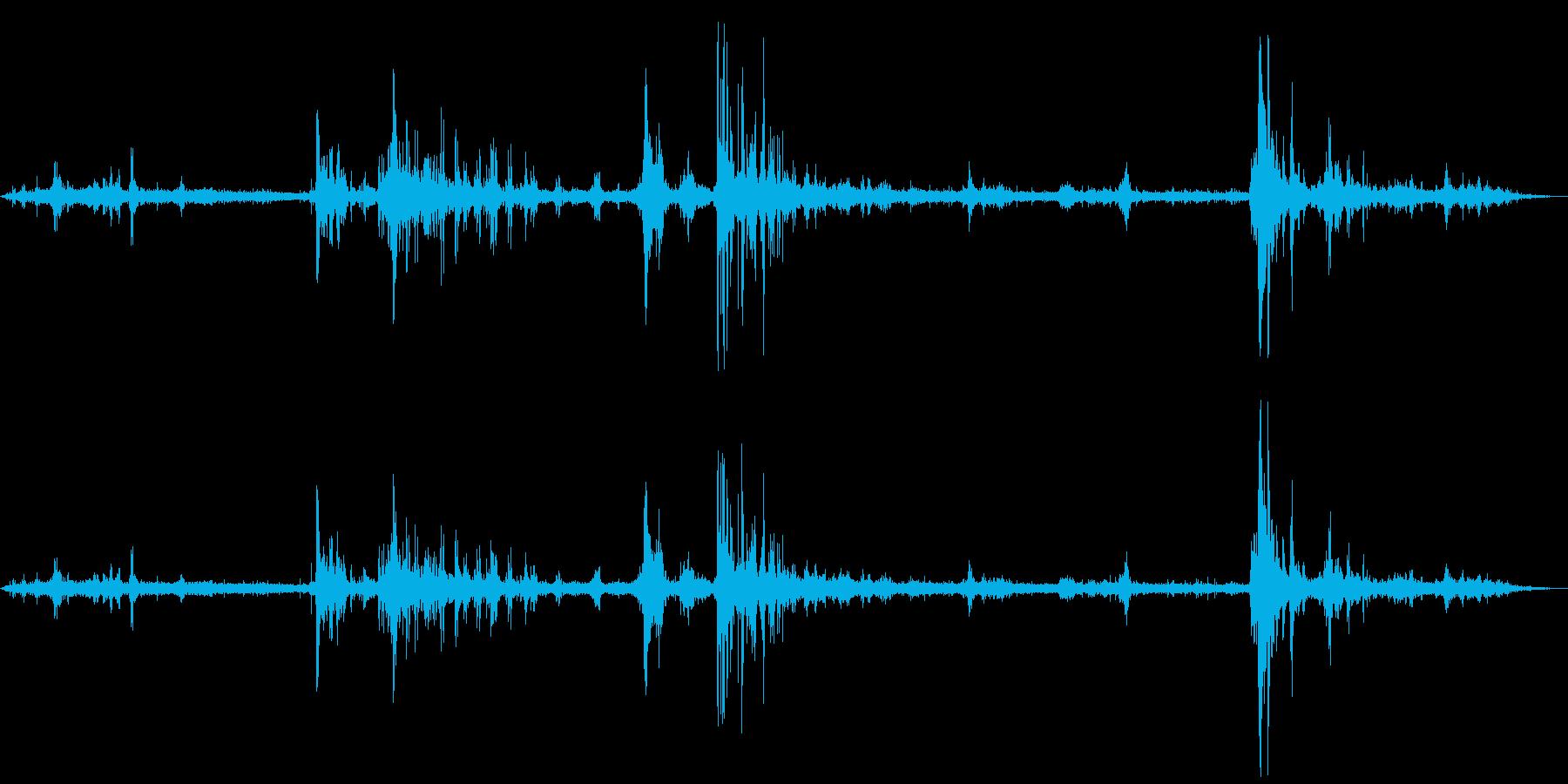 【自然音】落雷の音02の再生済みの波形