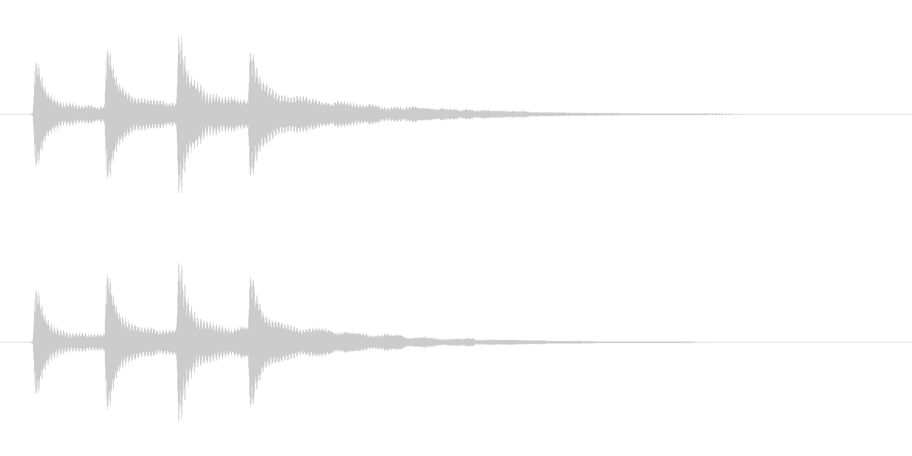 ココココンの未再生の波形