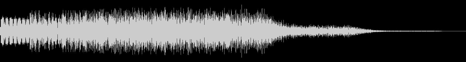 チャラッというキラキラ音です。の未再生の波形