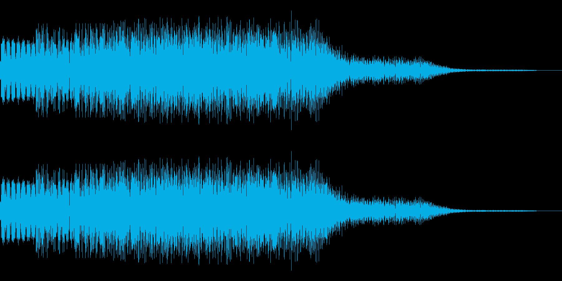 チャラッというキラキラ音です。の再生済みの波形
