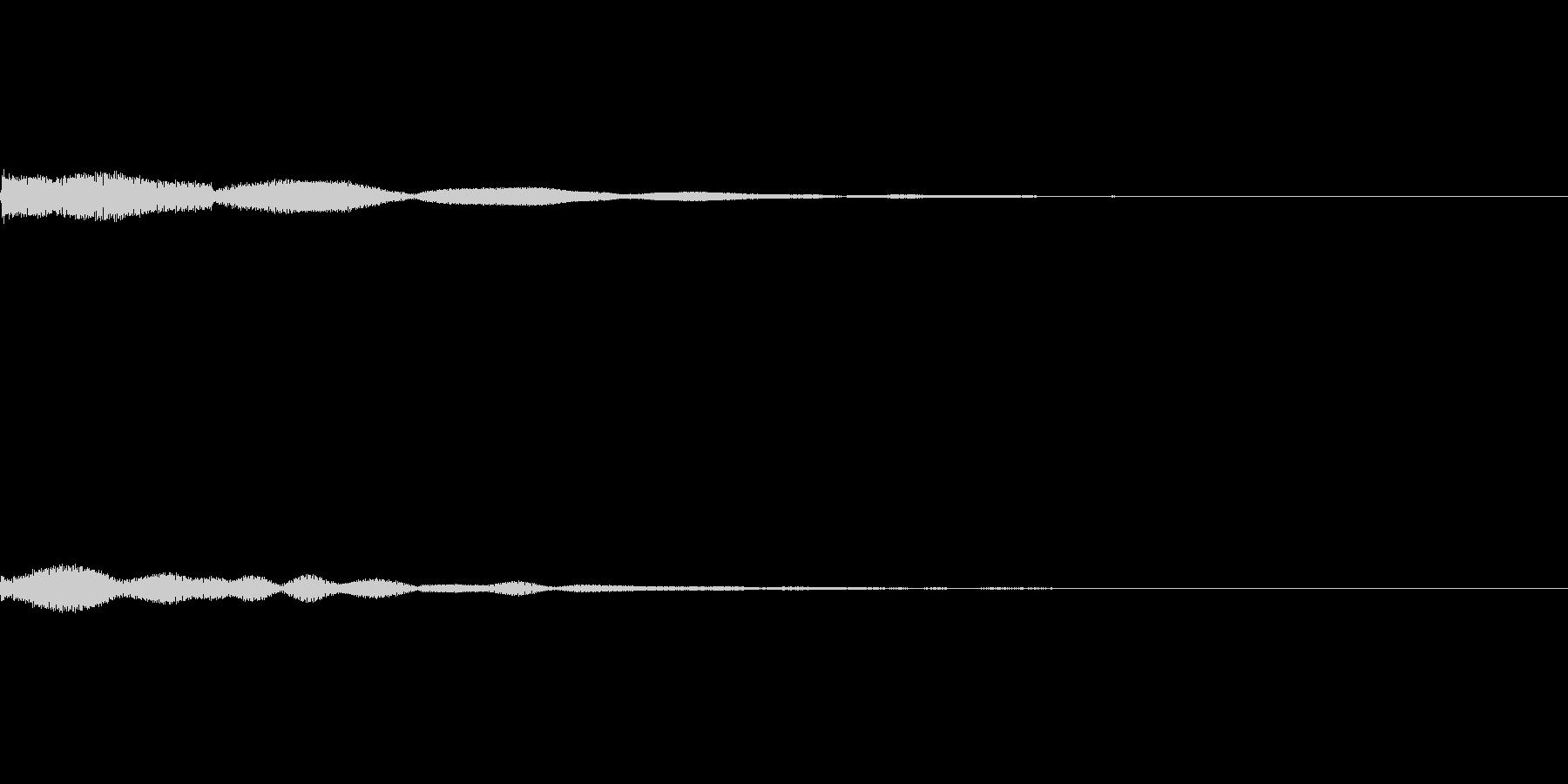 【SE 効果音】効果音その14の未再生の波形