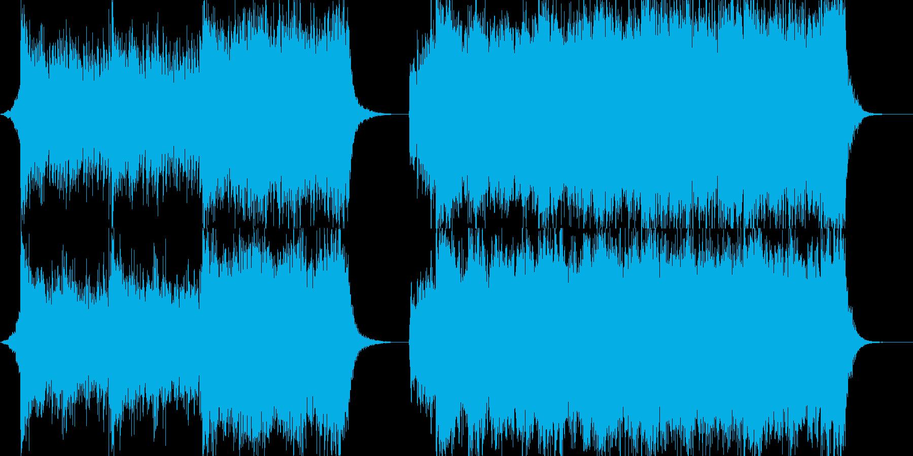 壮大で迫力のあるシネマティック音楽の再生済みの波形