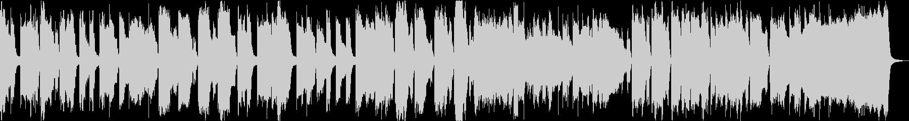 ほのぼのとした可愛らしいBGMの未再生の波形