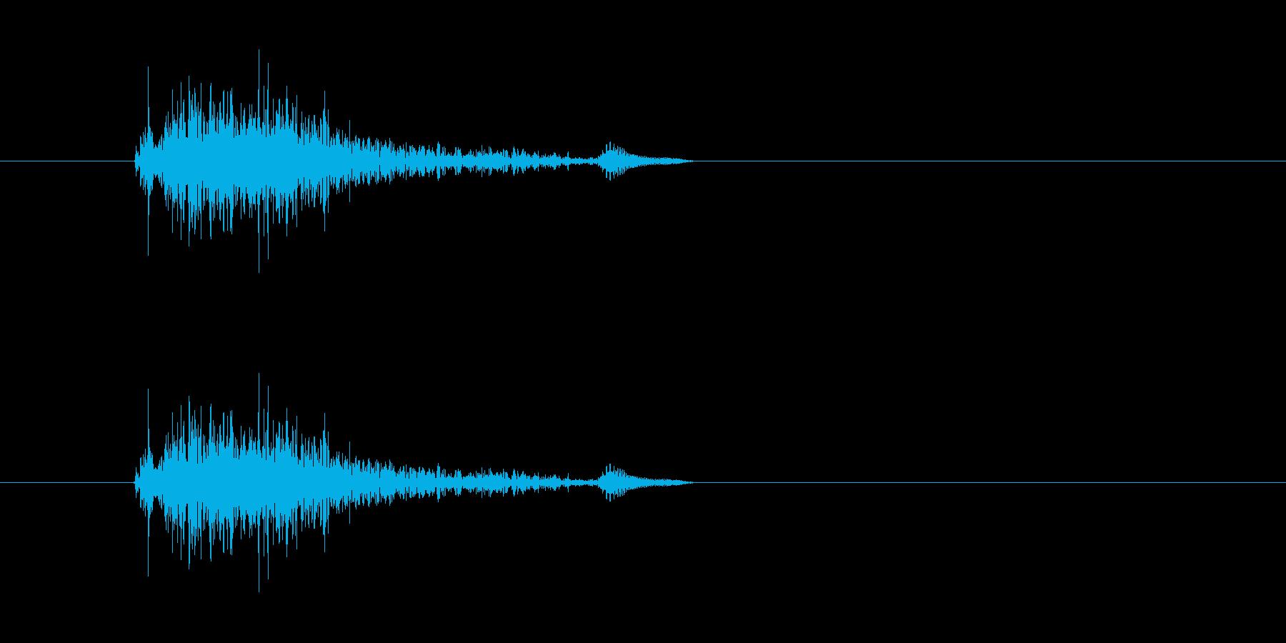(かわいい咳)の再生済みの波形