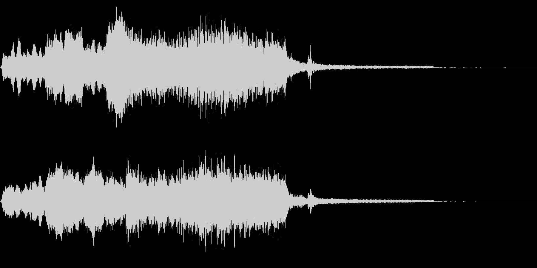 木管楽器サウンドロゴ・ジングル 場面展開の未再生の波形