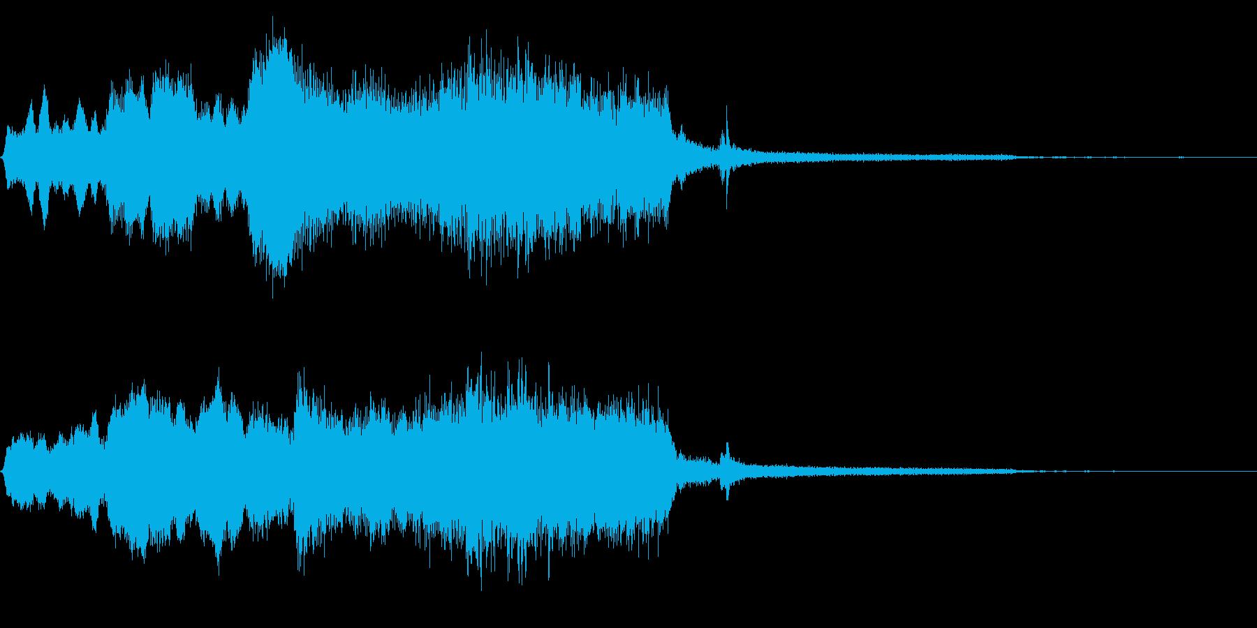 木管楽器サウンドロゴ・ジングル 場面展開の再生済みの波形