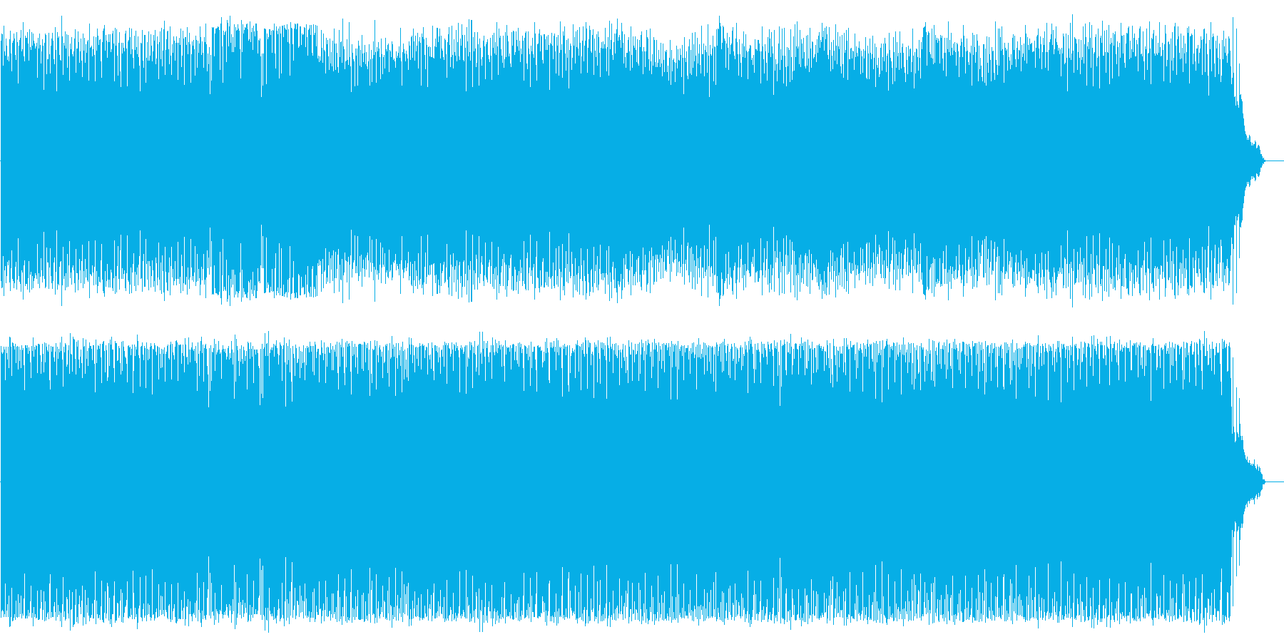 スピード感あるシンセサイザーの曲の再生済みの波形