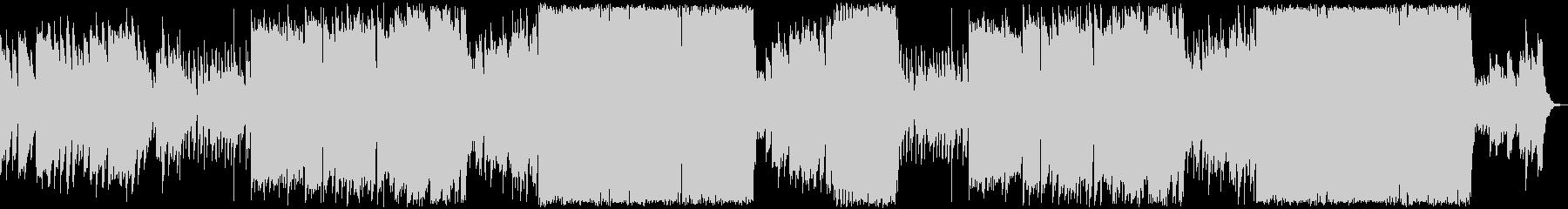 怪しいクリスマス・ハロウィンのBGMの未再生の波形