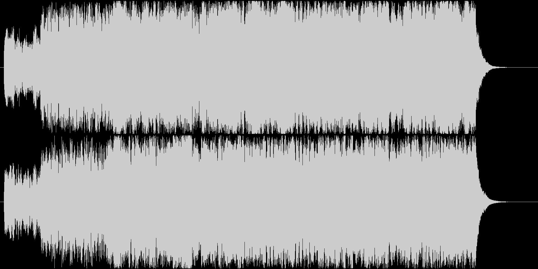 大聖堂の荘厳なパイプオルガン楽曲の未再生の波形
