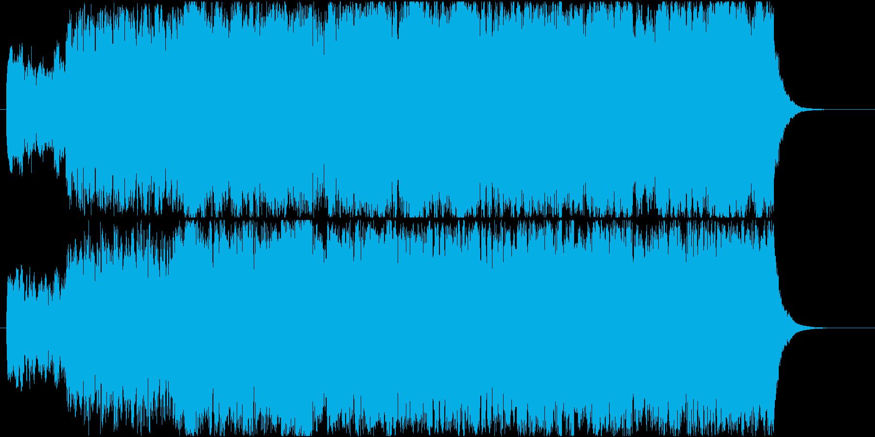 大聖堂の荘厳なパイプオルガン楽曲の再生済みの波形