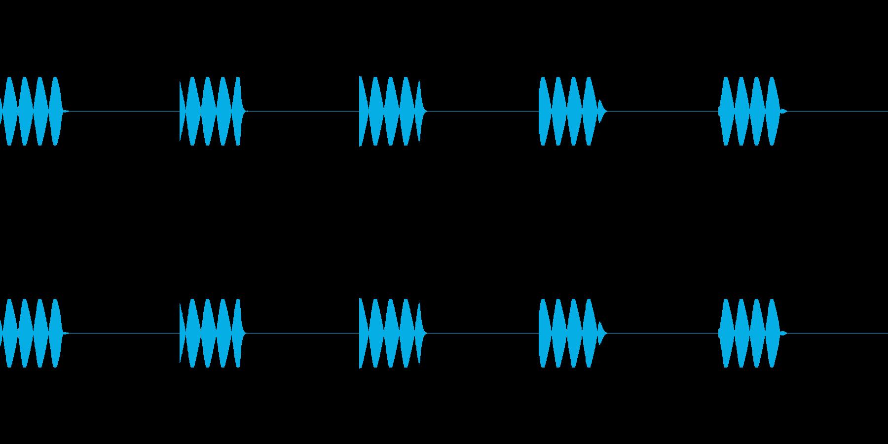 電話の着信音(5回鳴ります)の再生済みの波形