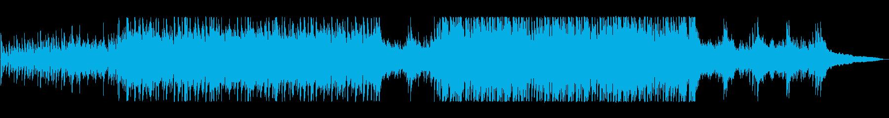 軽快でリズミカルなBGMの再生済みの波形