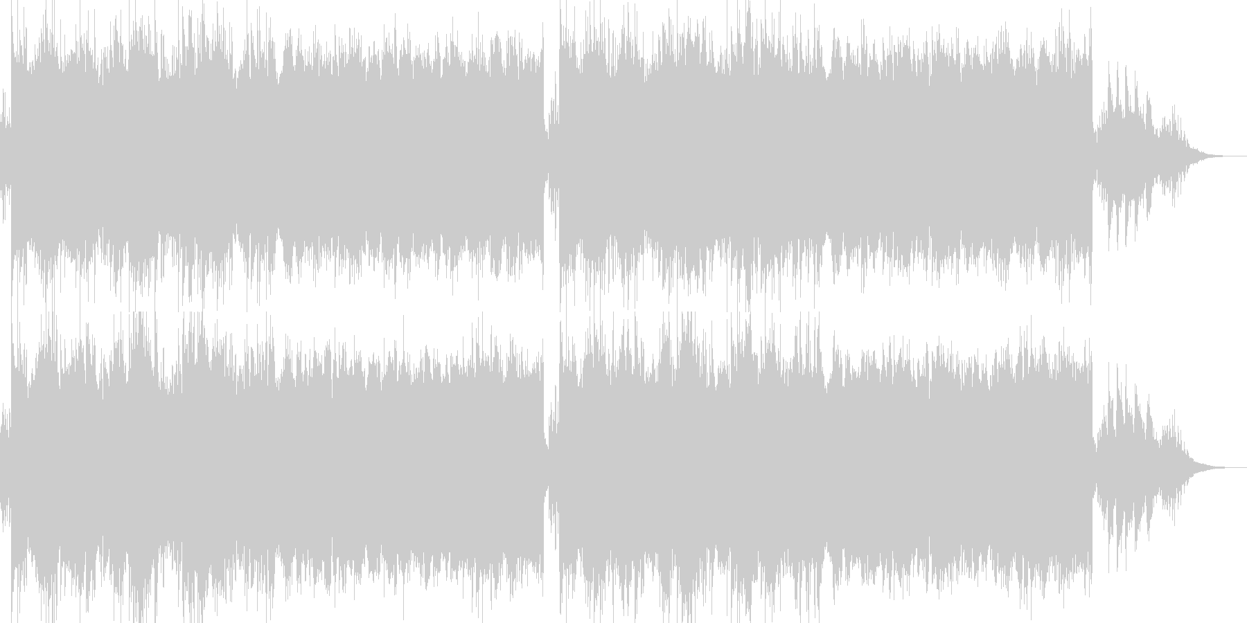 ピアノのアルペジオと浮遊感のあるBGMの未再生の波形