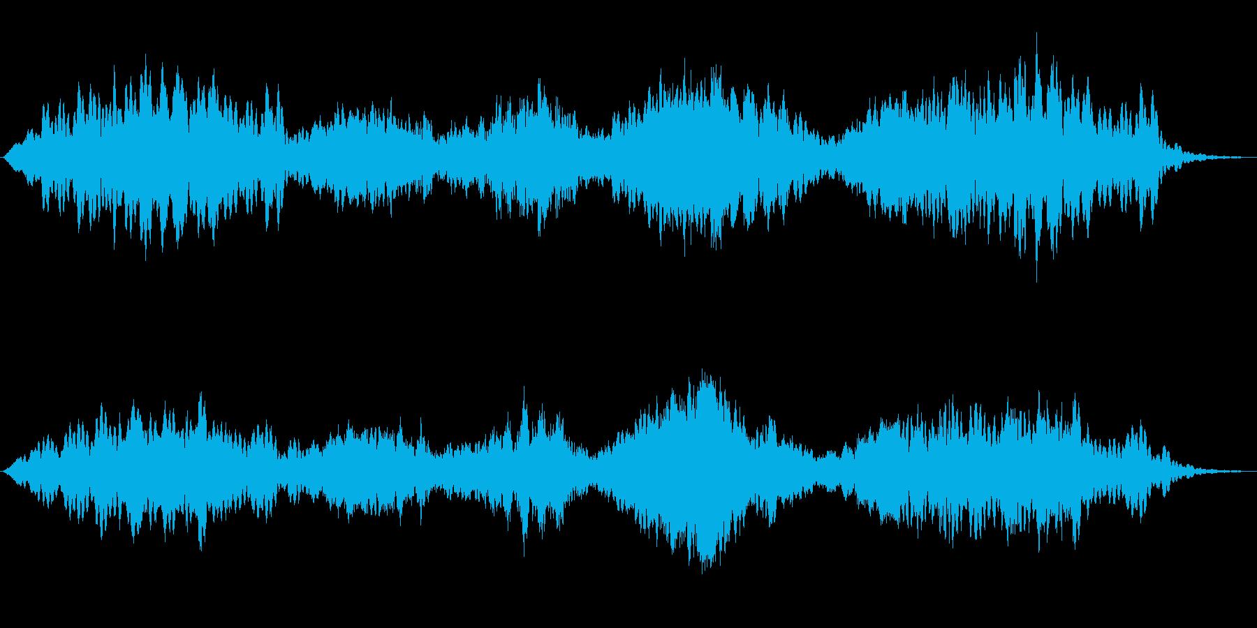 恐怖を煽るホラー背景楽曲の再生済みの波形