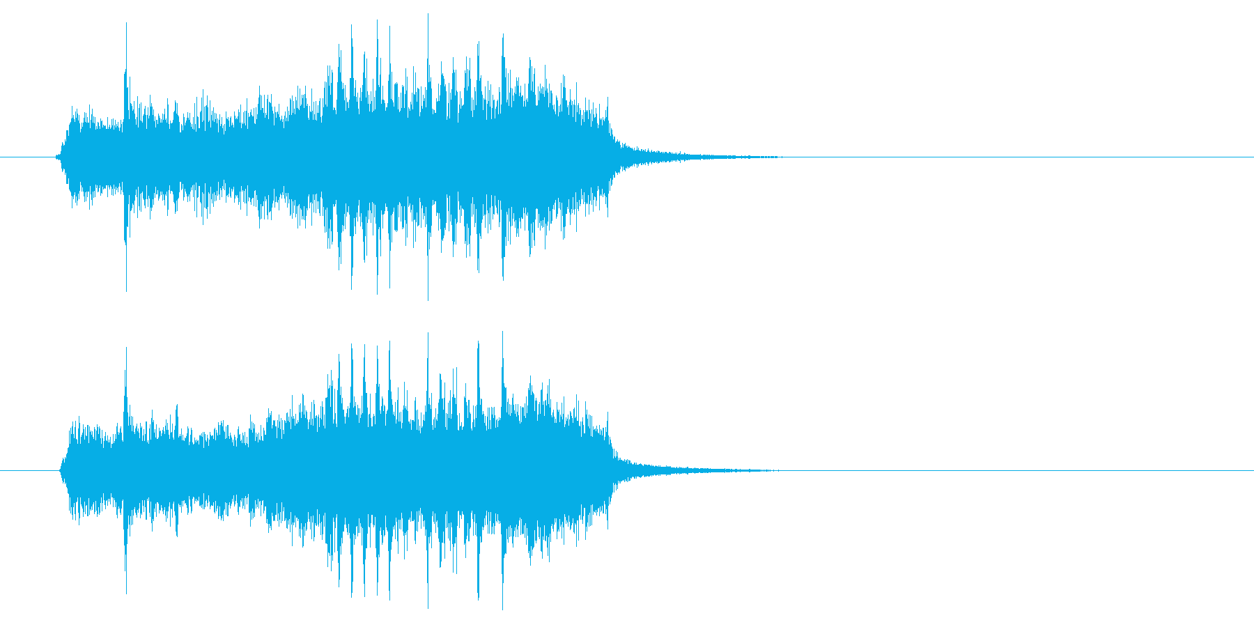 ジングル(ロック風)の再生済みの波形