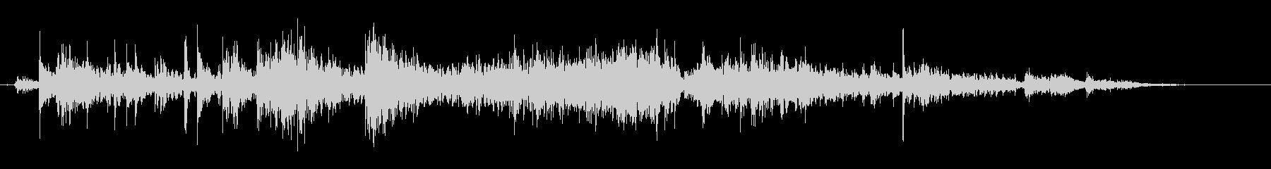 タンバリンの音(しゃん)の未再生の波形