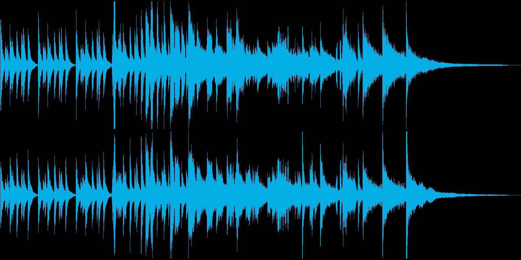 ピアノとエアーホイッスルのジングルの再生済みの波形