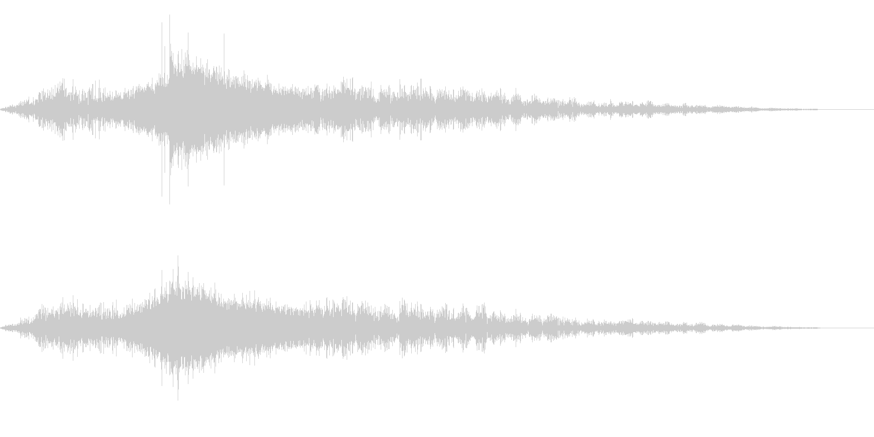 ホラー系アタック音50の未再生の波形