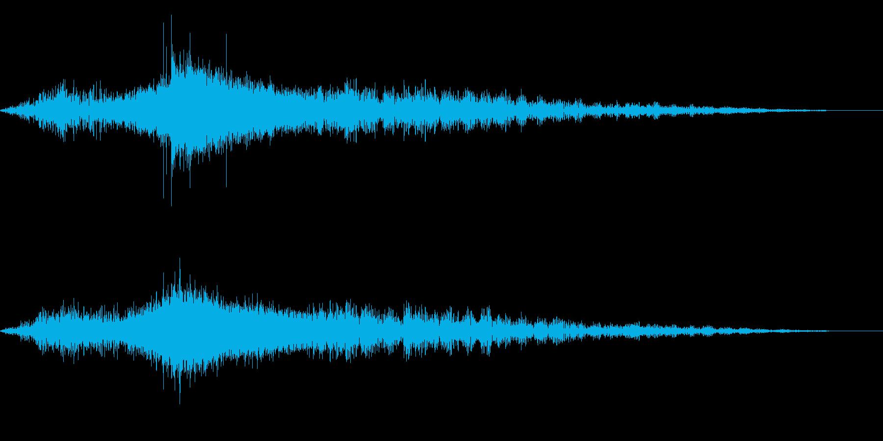 ホラー系アタック音50の再生済みの波形