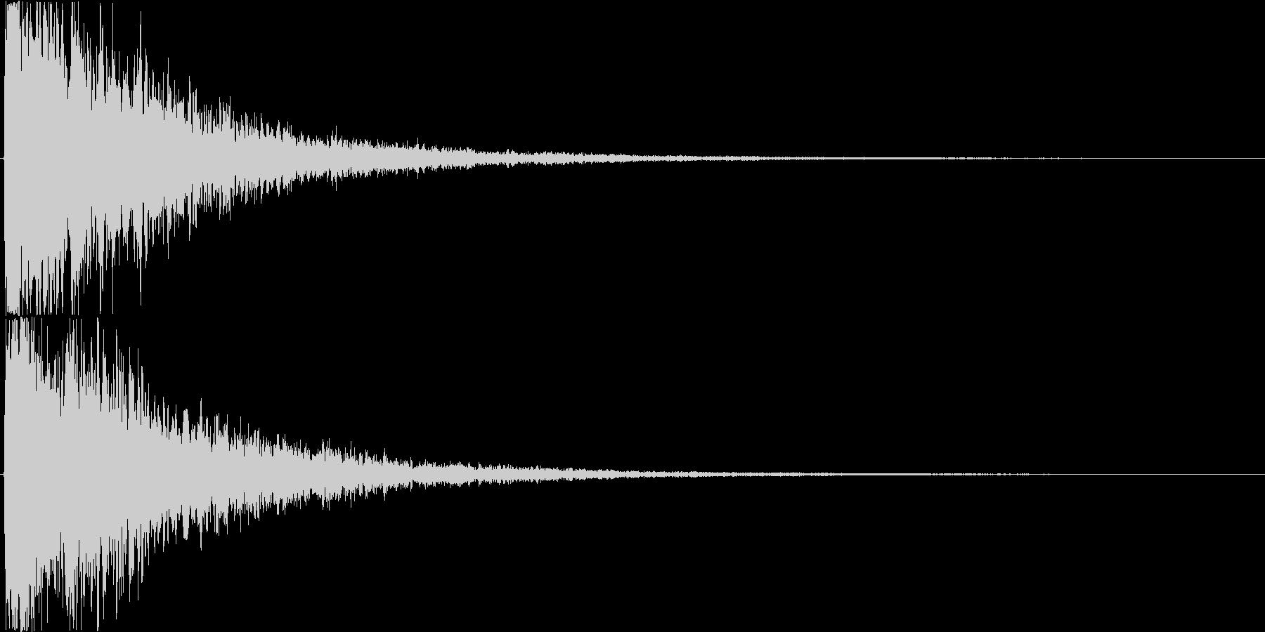パァーン(決定音、中世、荘厳)の未再生の波形