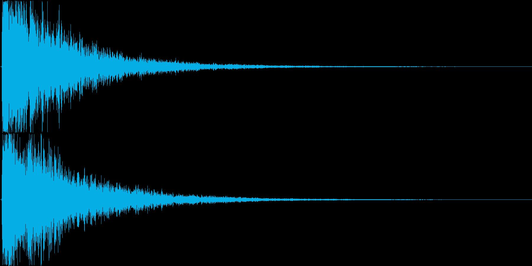 パァーン(決定音、中世、荘厳)の再生済みの波形