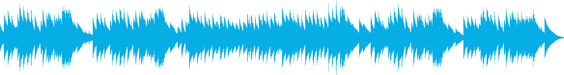 オルゴールの曲や、子供向けの番組などに…の再生済みの波形