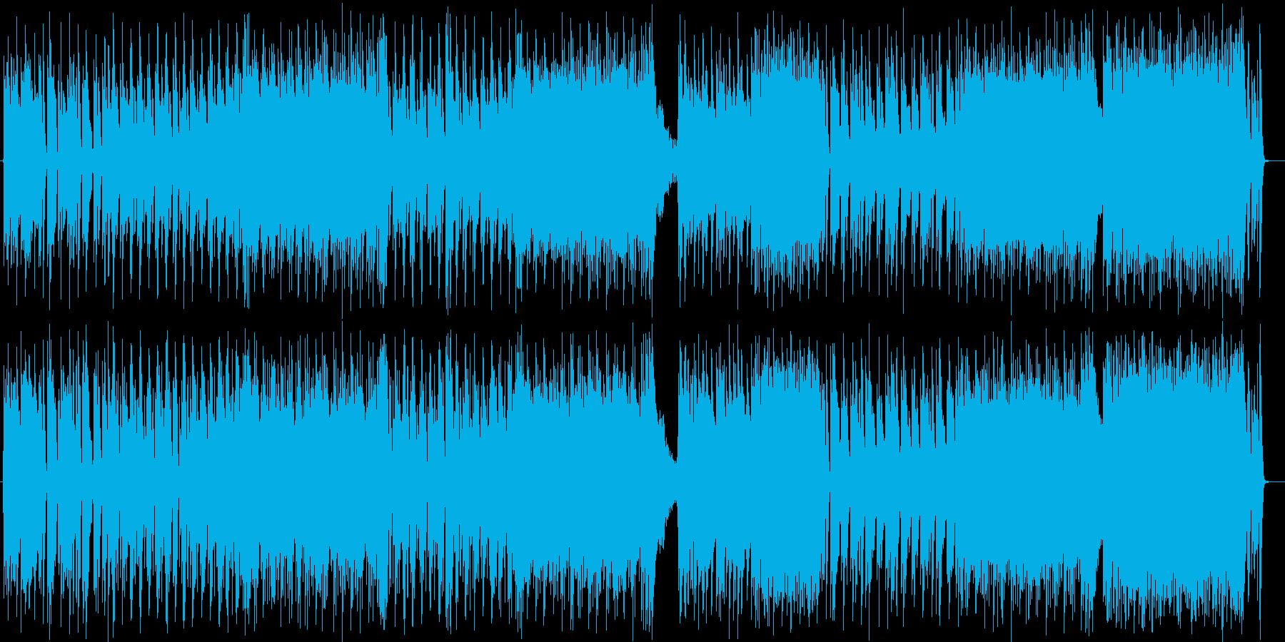 近未来的でクールな疾走感のあるロックの再生済みの波形