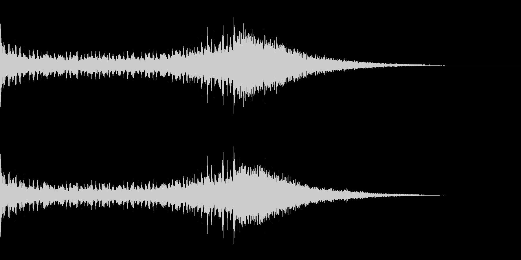 ドラムロールとシンバル 1 残響ありの未再生の波形