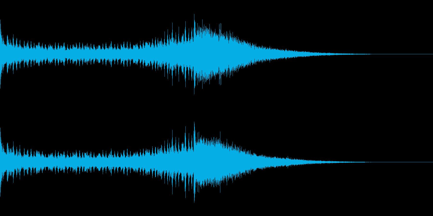 ドラムロールとシンバル 1 残響ありの再生済みの波形