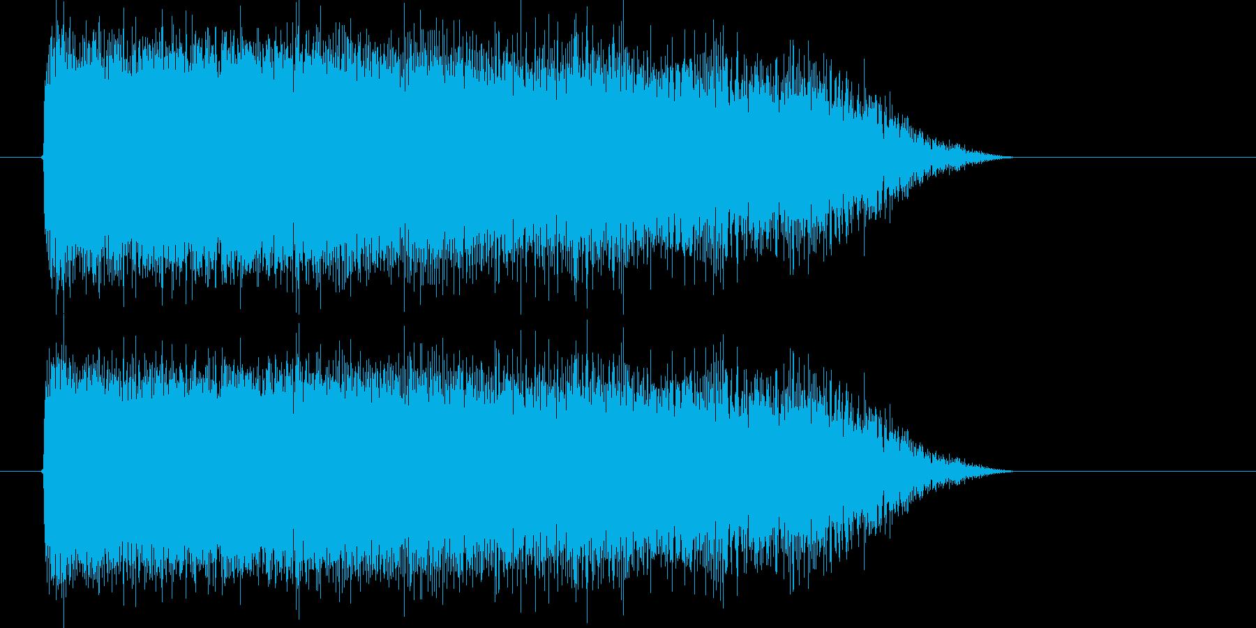 空間が歪むシンセサウンドの再生済みの波形