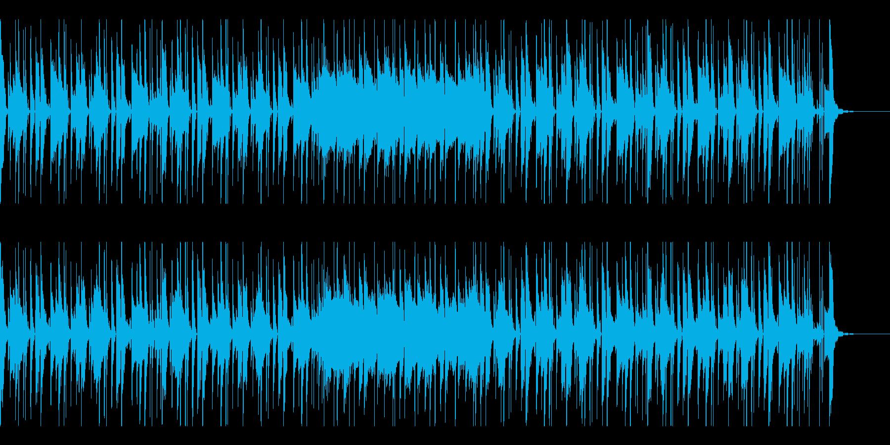 明るくスイング感のあるテクノポップの再生済みの波形