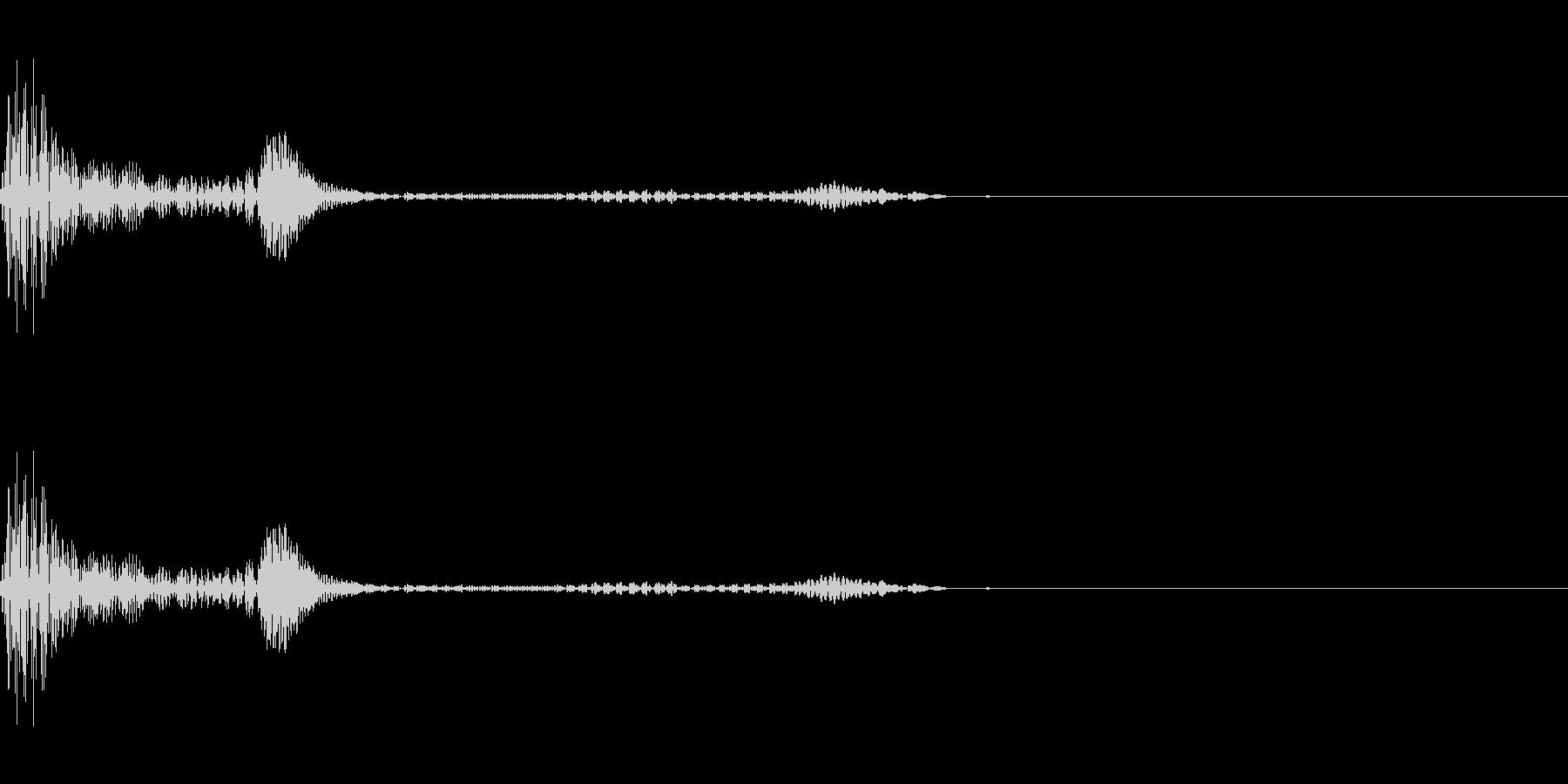 キャンセル/阻害音(ヴゥァヴーッ)の未再生の波形