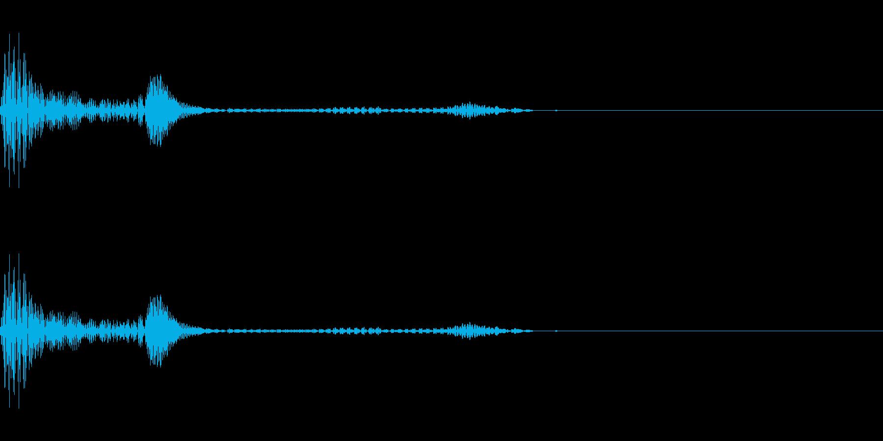 キャンセル/阻害音(ヴゥァヴーッ)の再生済みの波形