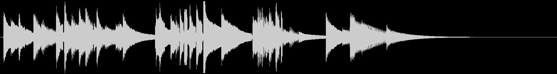 ゆったり安らげる温もりのあるアコギの未再生の波形