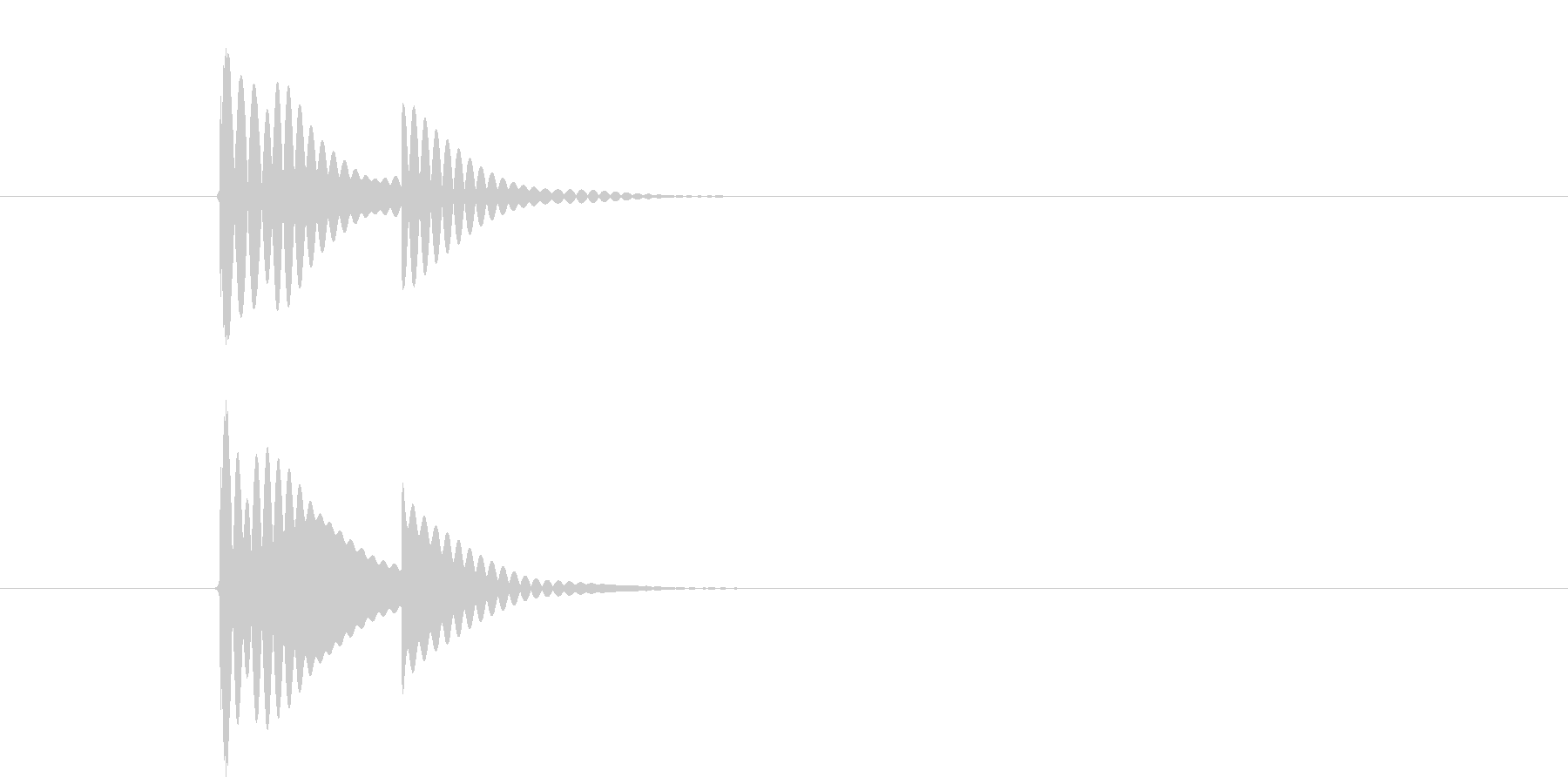 チリン、チリーン 夏の音 一回の未再生の波形