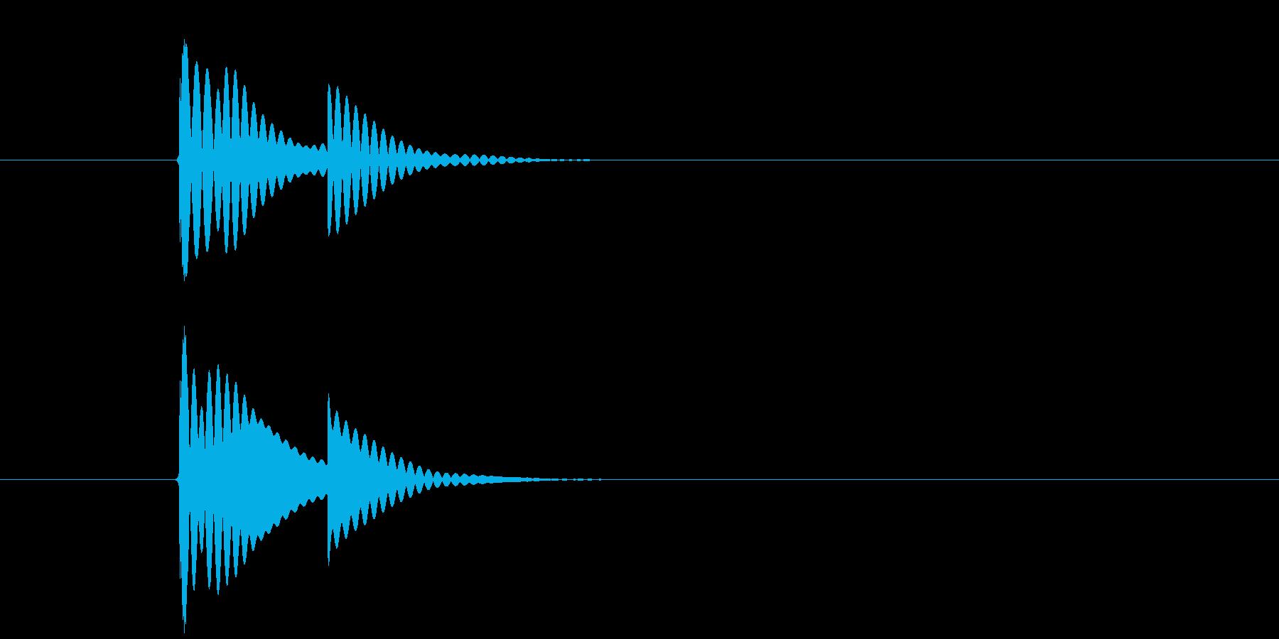 チリン、チリーン 夏の音 一回の再生済みの波形
