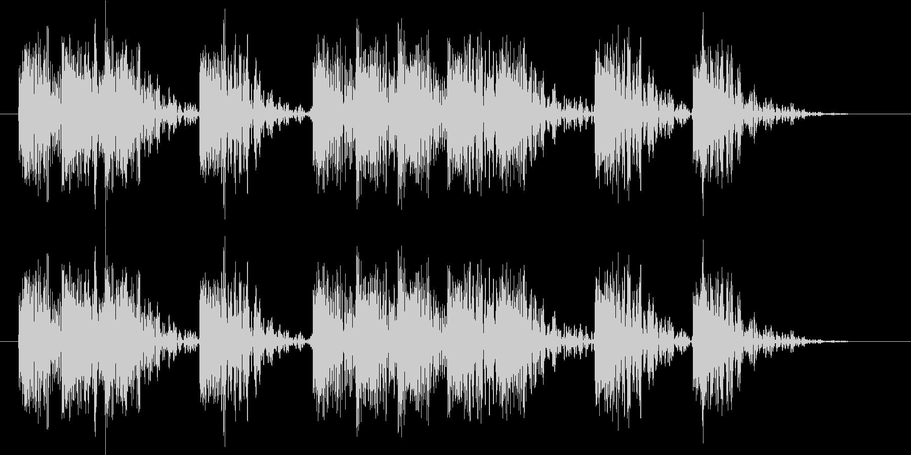 【エレキギター】ザクザク ブラッシング音の未再生の波形