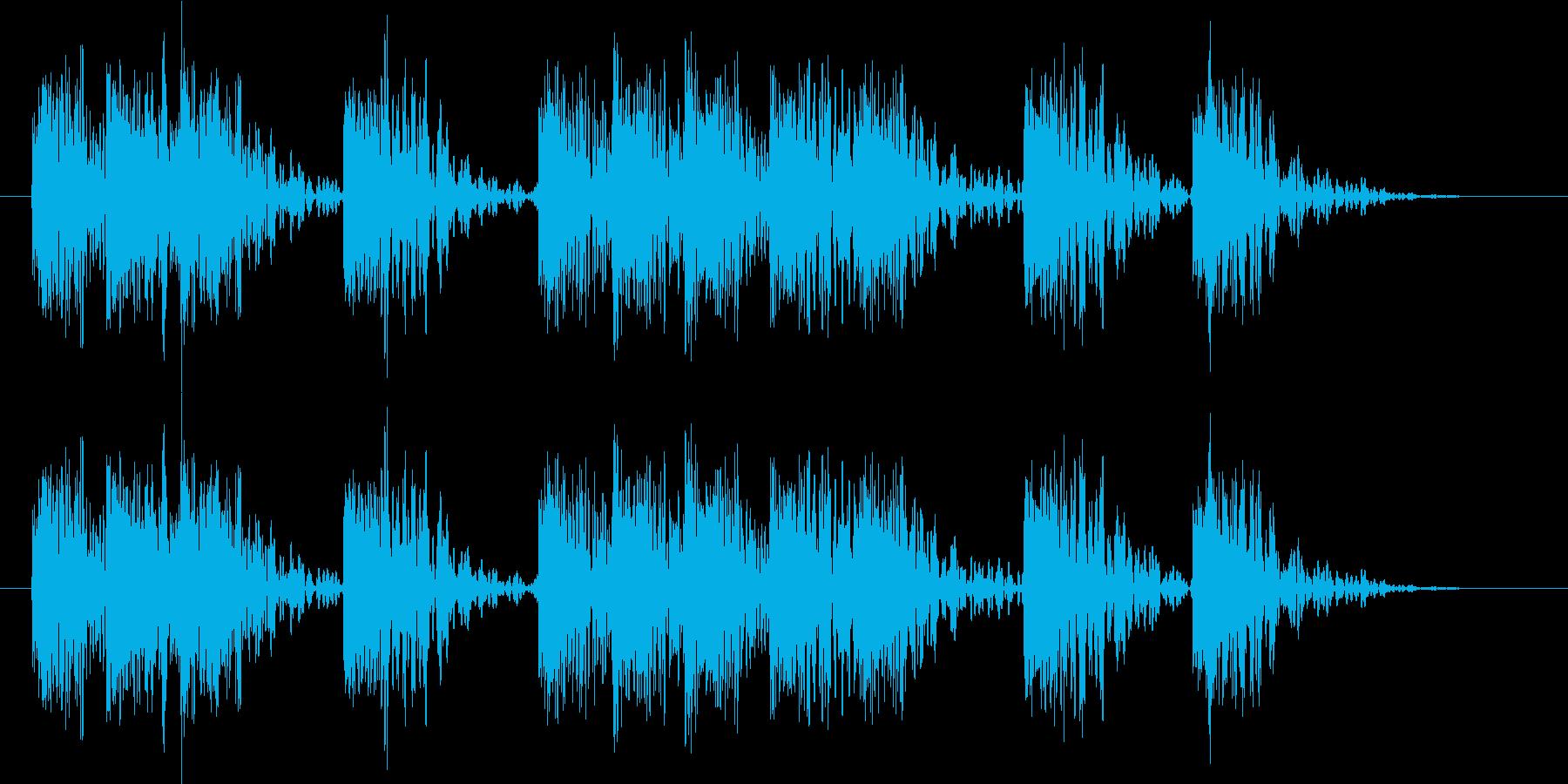 【エレキギター】ザクザク ブラッシング音の再生済みの波形