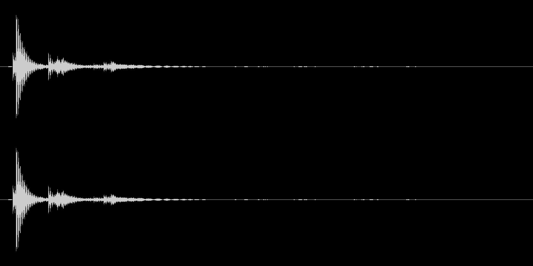 ロボットのしゃべり声(低音Ver.)の未再生の波形