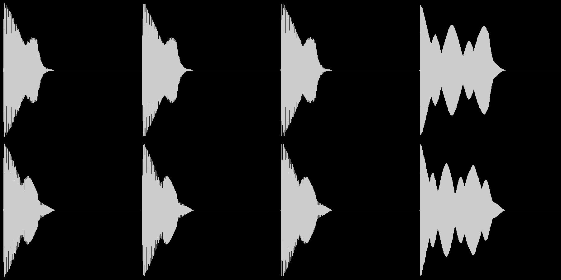レース スタート合図音 近代Verの未再生の波形