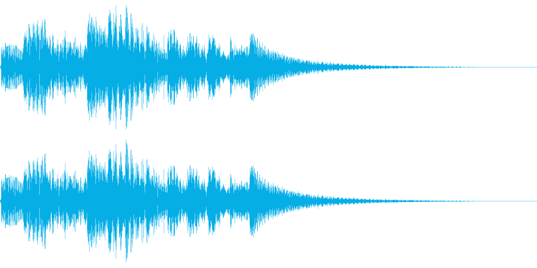 テレレレレン↑ 琴 上昇の再生済みの波形
