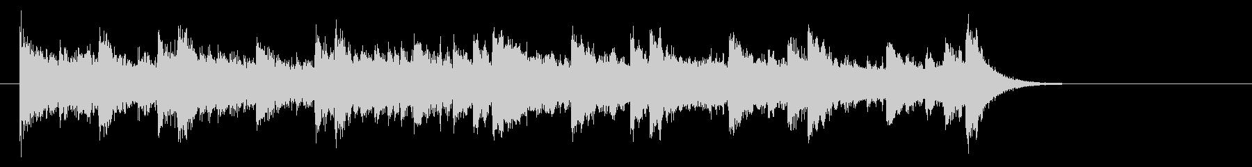 ピアノのライト・ポップス(サビ)の未再生の波形