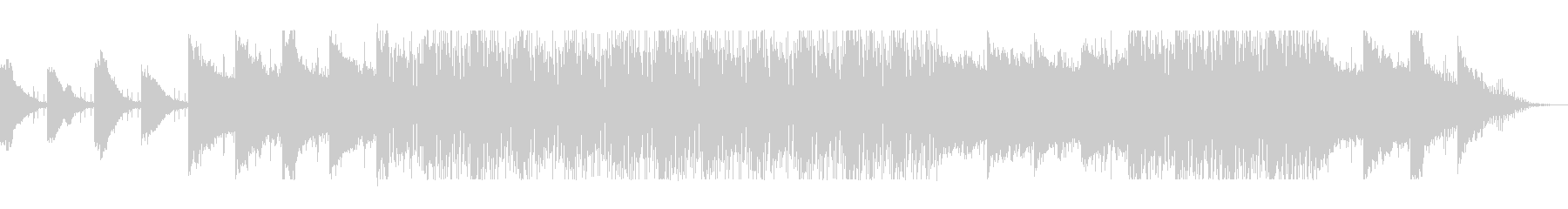 滑らかなピアノのストリングハウス音の未再生の波形