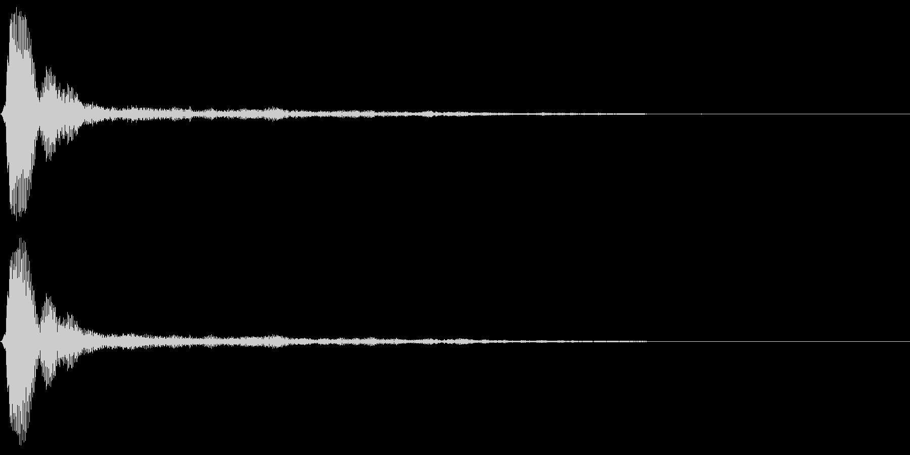 タップクリック決定音スタート音 シャーンの未再生の波形
