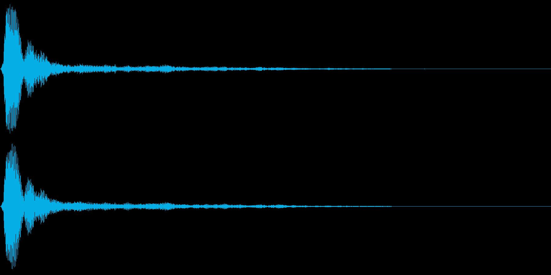 タップクリック決定音スタート音 シャーンの再生済みの波形