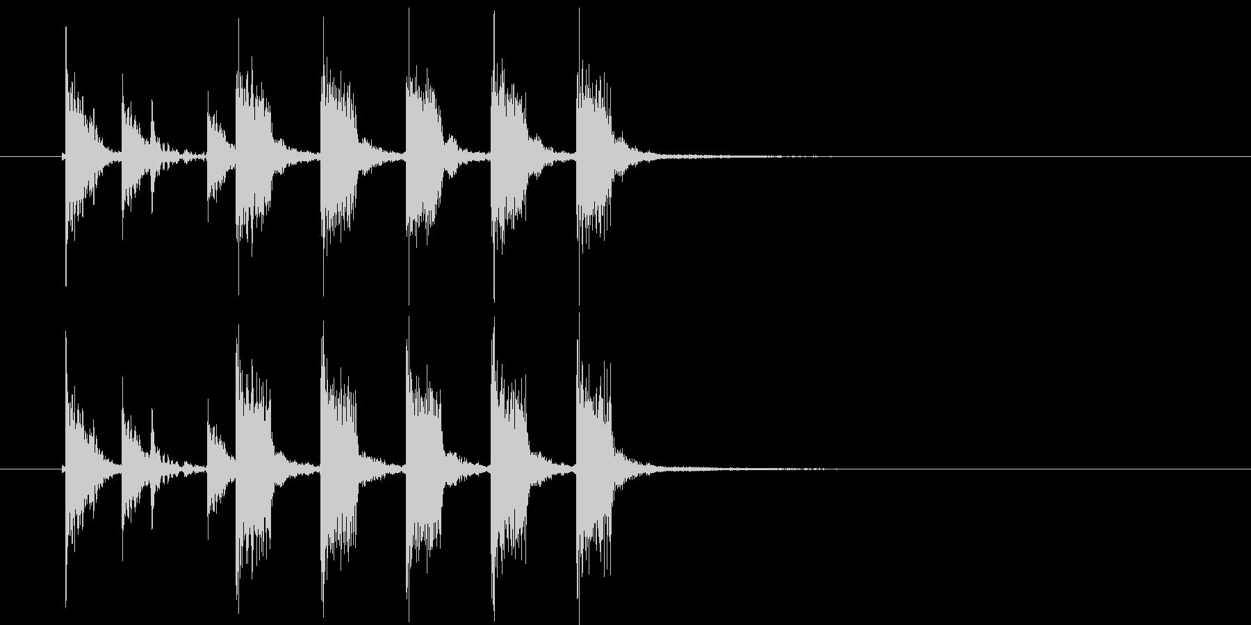 ズズチャチャチャチャチャ(ギター効果音)の未再生の波形