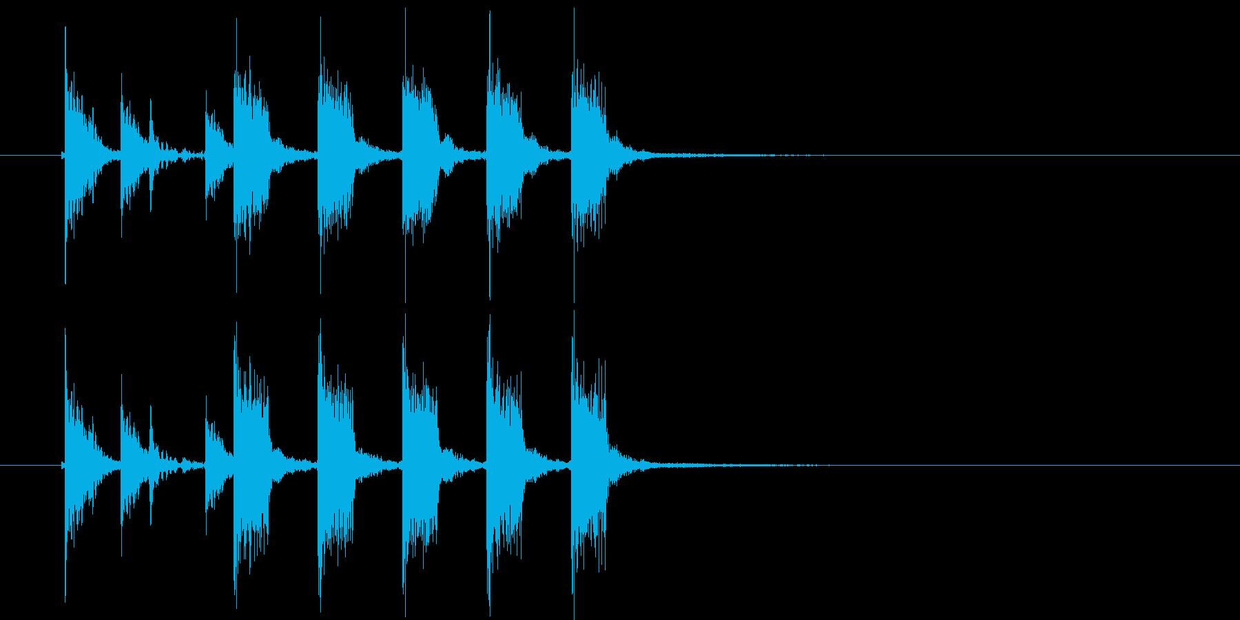 ズズチャチャチャチャチャ(ギター効果音)の再生済みの波形