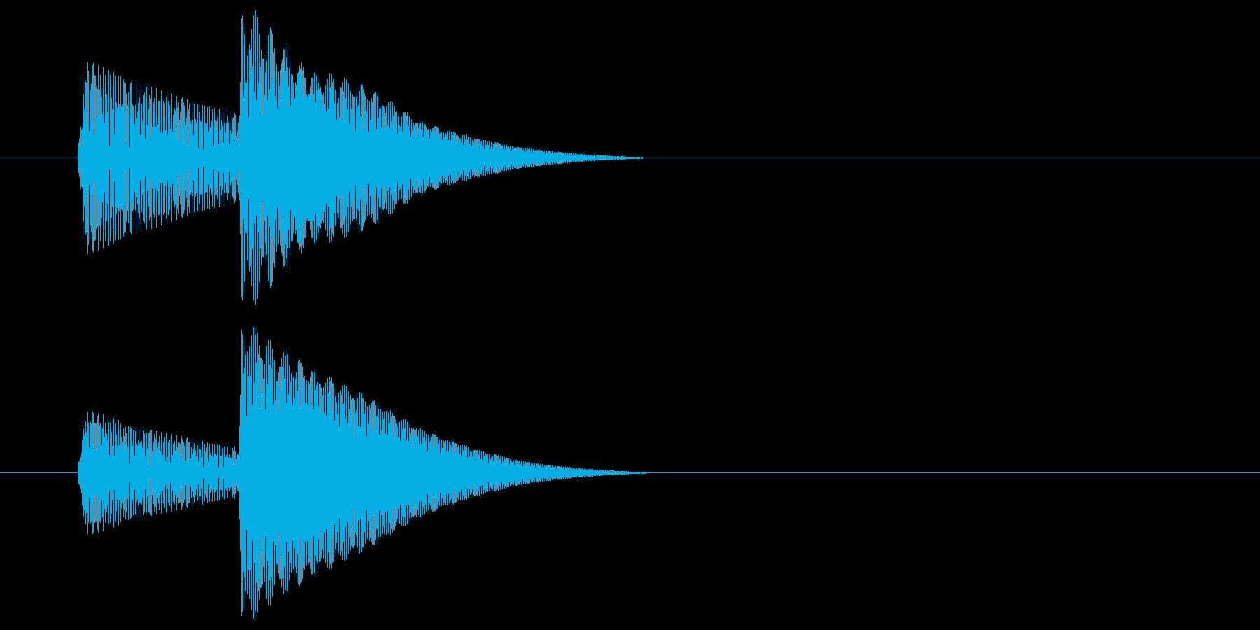 (ピコンッ)アプリ、ゲームの再生済みの波形