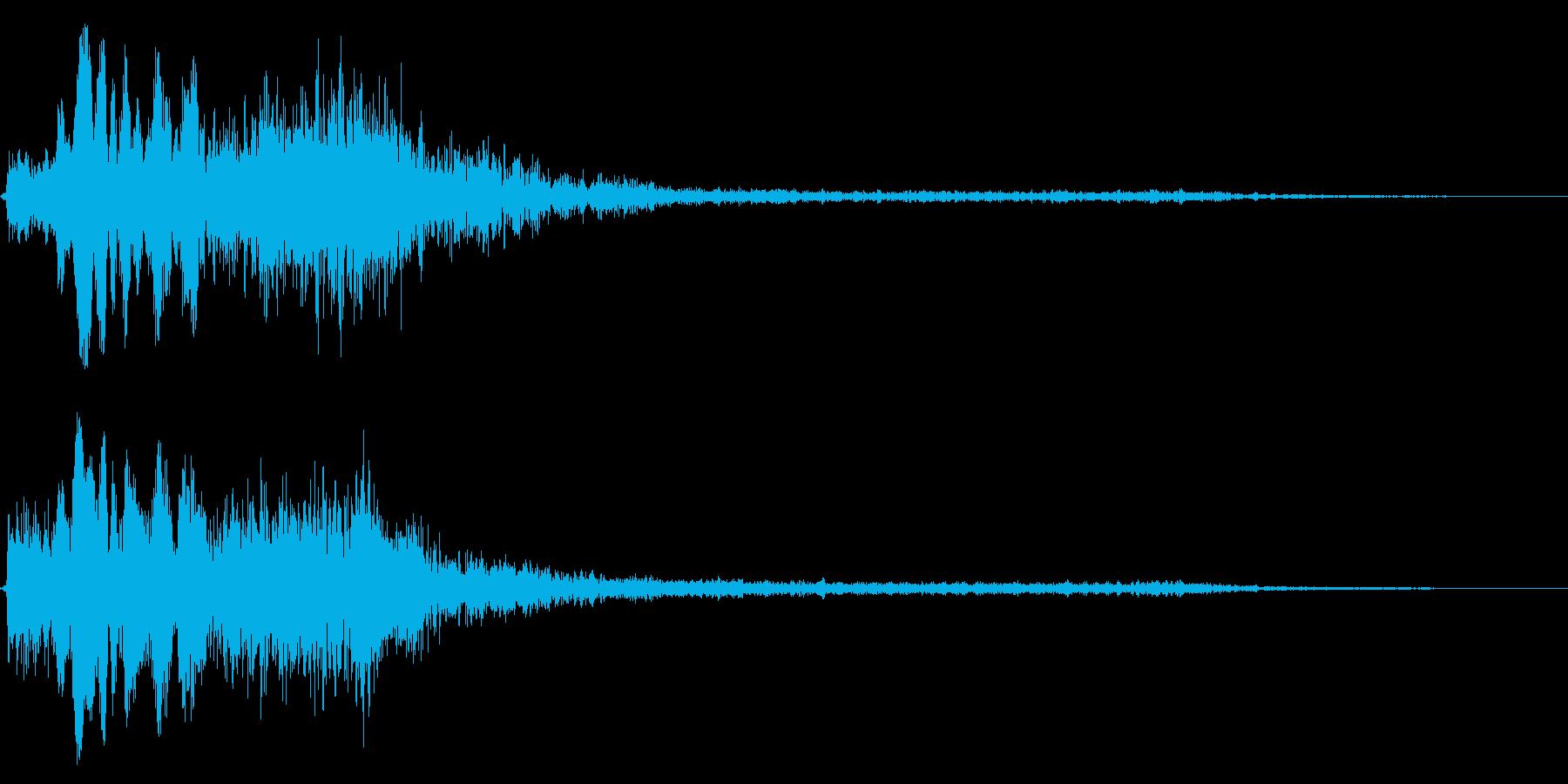 ホラー系アタック音1の再生済みの波形